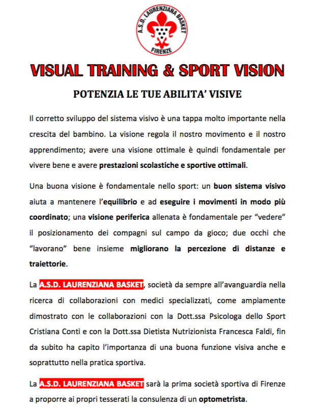 visual training 1